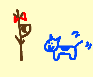 Triggered stickman with only canine teeth