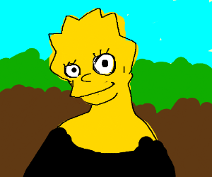 Mona Lisa ( Using Simpson's Lisa)