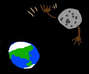 Moon waves hello to Earth