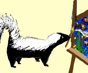 skunk is a talented artist