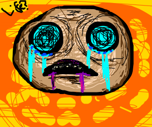 a crying person wonders about life