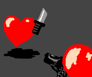 Heart's fight to the death