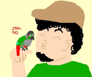 Jontron gives Jacques a kiss