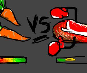 vt(vegetarian?) vs MEAT
