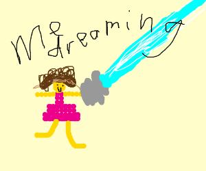 Princess Peach is a Cyborg in a dream
