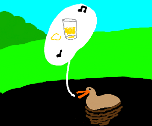 duck sings about lemonade