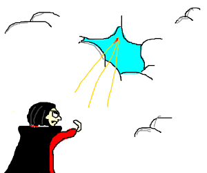 Dracula! Your war with God is over!