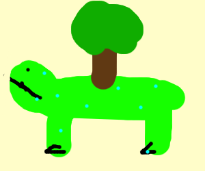 Bulbasaur with tree on its back