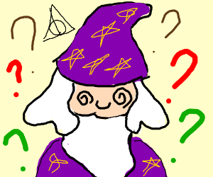 """wizard confused by the triforce """"doe"""""""