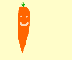 Carrot with a face