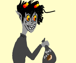 karkat with a bag of troll nut