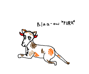 Goat Cat with Devil Horns