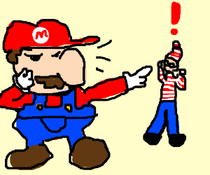 Mario searches for waldo