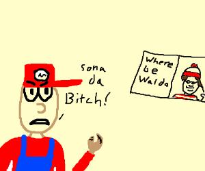 Mario roasts Waldo