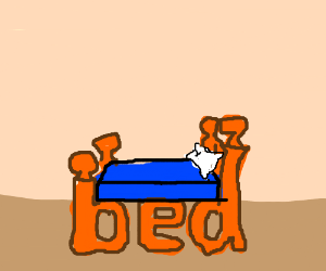 The Word Bed Looks Like A Bed Drawception