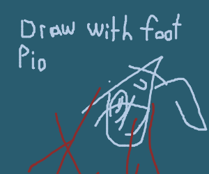 Draw with your foot PIO