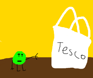 The merciful pea frees his friends from a bag