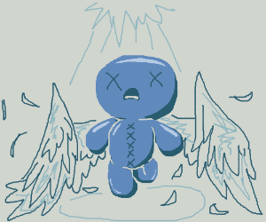 Isaac (From the binding of Isaac) with wings