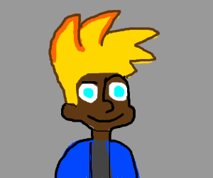 Johnny Test, but he's black.