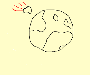 Earth and a meteor are this close.