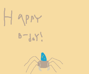 it's my spiders birthday today