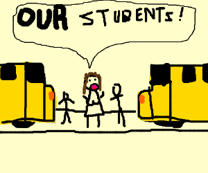 2 school bus try to kill our students