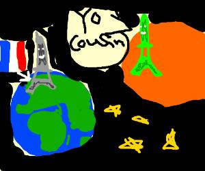 The Eiffel Towers green alien cousin