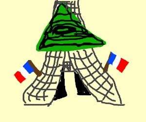 eiffel tower is illuminati