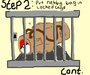 stp1: get Nebby in the bagandzip him in (cont)
