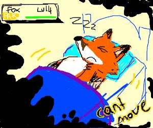 A fox having sleep paralysis