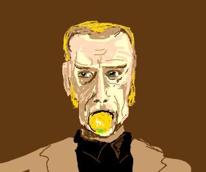 Cave Johnson spits out a lemon