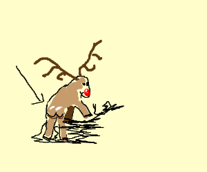 Rudolph the Red Nosed Reindeer's butt