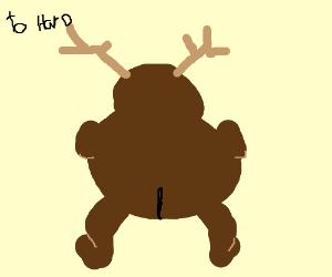 fat half bear-deer twerking