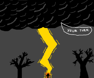 Black cloud says it's your turn!