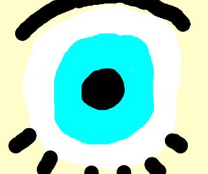 a blue eye up close