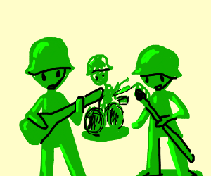 Plastic army musicians