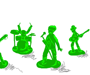 Toy soldiers start a band