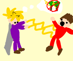 Cloud finally gets to zap you instead of trees