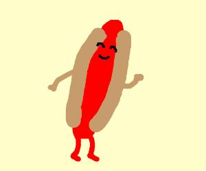 cute hotdog