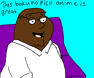 black peter griffin watches anime