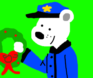 Polar bear police's Christmas