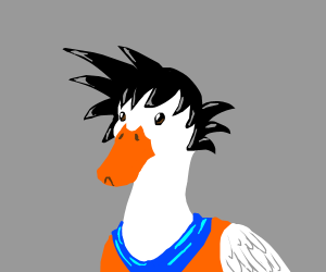 Goku fused with a duck