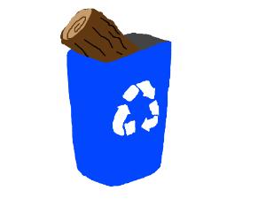 the log is in the bin