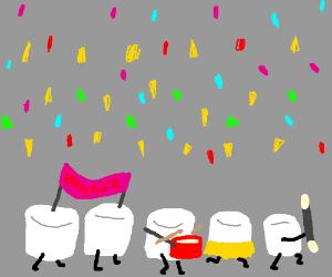 A marshmallow parade...?
