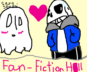 napstablook in love with sans [what the hell]