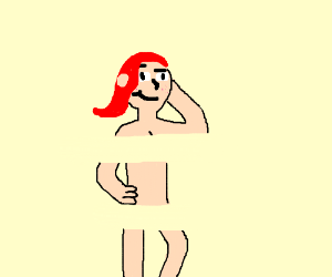 an nsfw drawing, but censored by a glitch