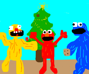 The Elmo family wishes you a happy holiday
