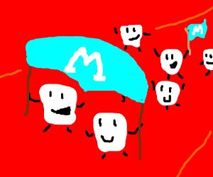 Marshmallow parade