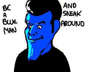 Robbie Rotten Joins the Blue Man Group