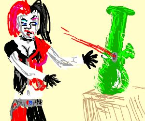 Cybong vs Harley quinn